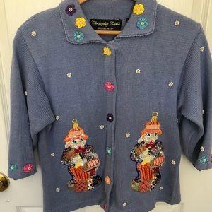 Christopher Radko Rabbit Easter Sweater